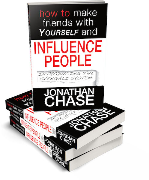How to make friends with yourself and Influence people Jonathan Chase #hypnoartsbooks 3D graphic
